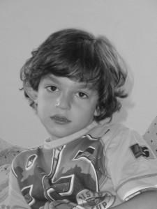 Garçonet atteint du syndrome X-Fragile