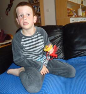 Jeune garçon autiste