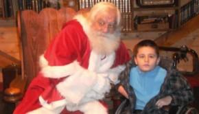 Ptilou, atteint du syndrome CDG, fête Noël