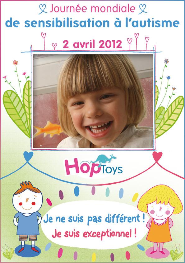 affiche hop'toys journée mondiale de la sensibilisation à l'autisme