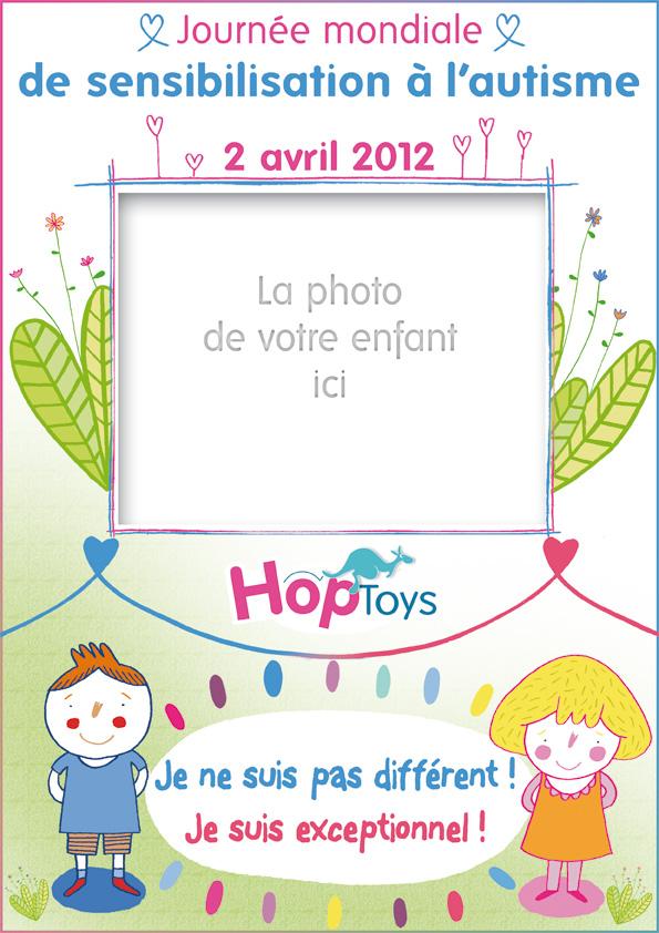 affiche vierge hop'toys journée mondiale de la sensibilisation à l'autisme