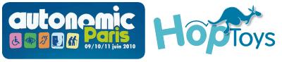 Logo Hop'Toys et Autonomic Paris