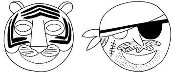 Masques Hop'Toys pour le carnaval