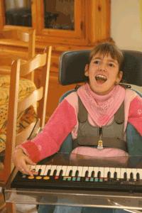 Le piano de Morgane, polyhandicapée