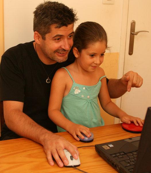 Tess et son papa