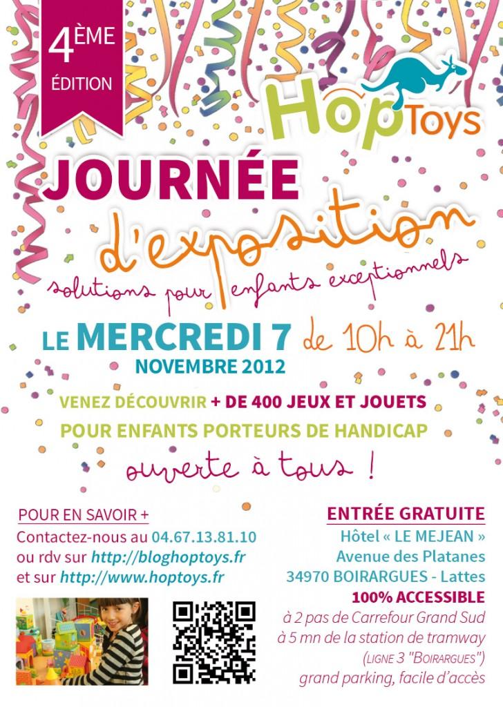 Affiche Hop'Toys de la journée d'exposition 2012