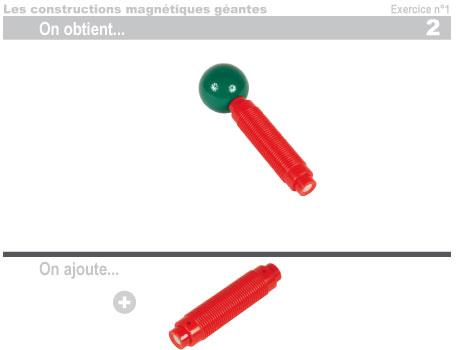 Les constructions magnétiques géantes - Exercice 1 - 3