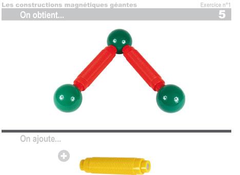 Les constructions magnétiques géantes - Exercice 1 - 6