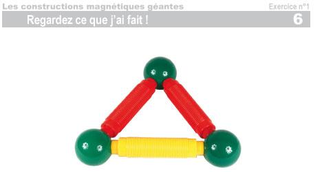 Les constructions magnétiques géantes - Exercice 1 - 7
