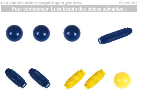 Les constructions magnétiques géantes - Exercice 2 - 1