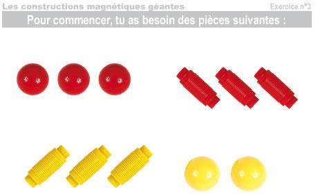 Les constructions magnétiques géantes - Exercice 3 - 1