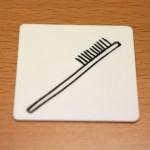 Etape 2 : je dessine les poils de la brosse à dents