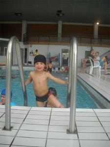Ilhan à la piscine
