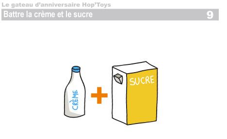 Battre la crème et le sucre
