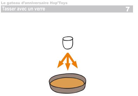 Tasser le mélange sur la moule à l'aide d'un verre