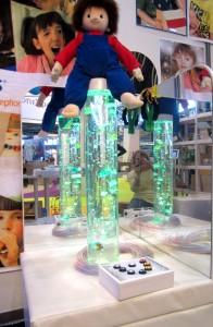 colonne-à-bulles-vert