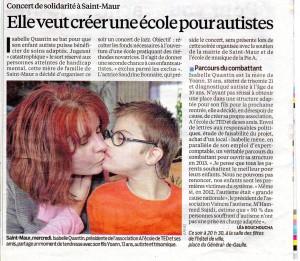 Article paru dans le Parisien du 15/12/2012