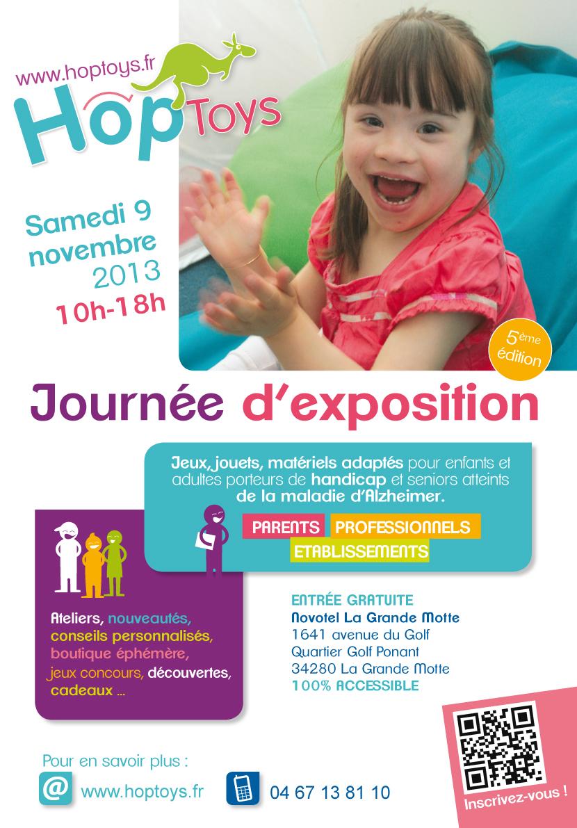 affiche Enfants - journée expo Hop'Toys 9 novembre 2013