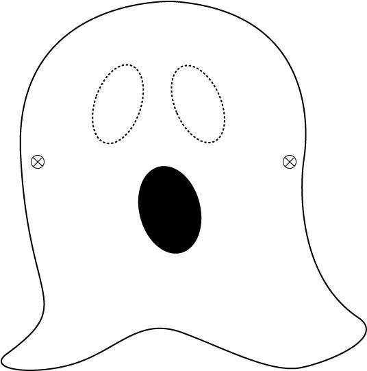 Masque Halloween de fantôme