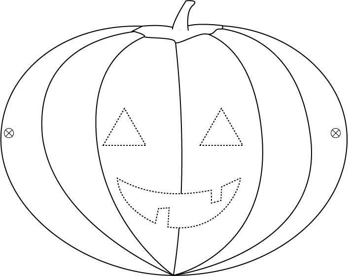 Masque Halloween de citrouille