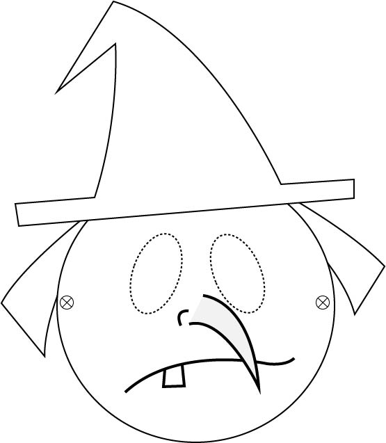 Masque Halloween de sorcière