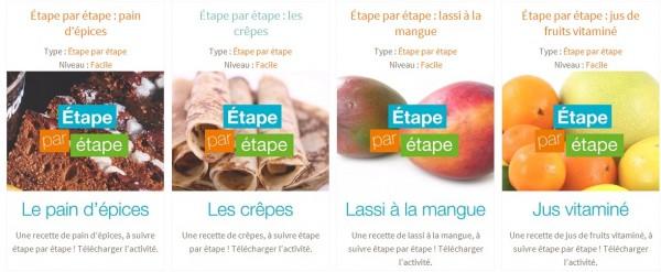 les recettes Etape par Etape