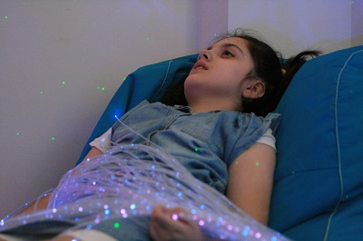 gerbes lumineuses et pouf fauteuil