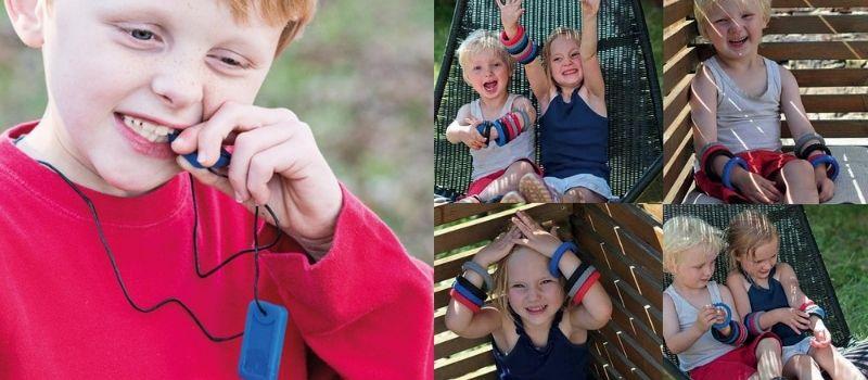 Le collier et le bracelet à mastiquer mixte de la marque Chewigem.