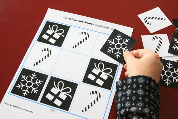 Sudoku à fort contraste visuel