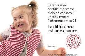 Campagne sensibilisation Trisomie 21 - ladifferenceestunechance.com