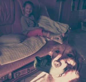 Gabrielle et Guinée chien d'éveil