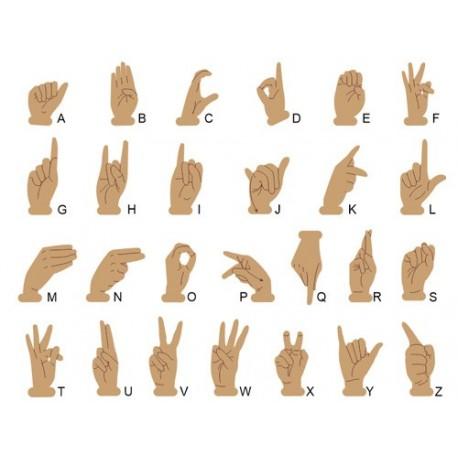 L'alphabet dans la langue des signes française
