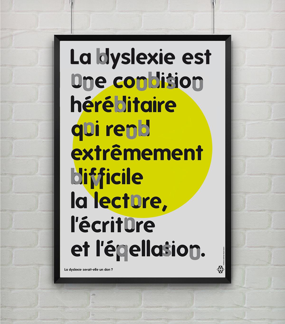 Affiche de sensibilisation à la dyslexie