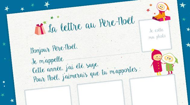 Téléchargez la lettre au Père Noël