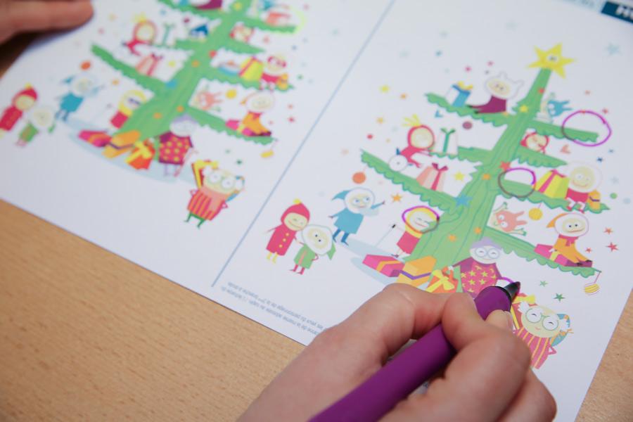 Activité de Noël discrimination visuelle