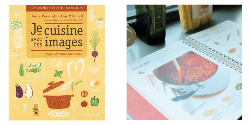 Livre de recettes : Je cuisine avec des images