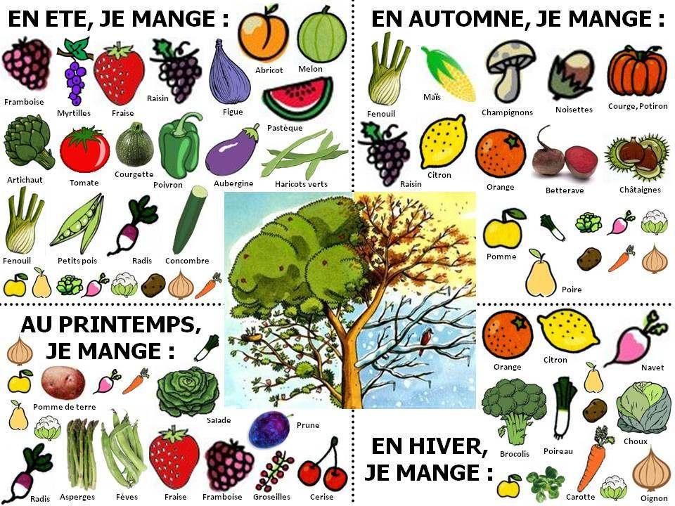 Les fruits et légumes de saison