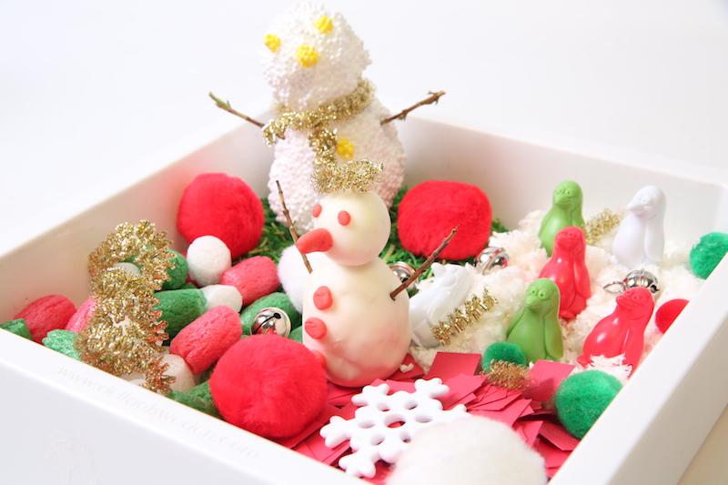 Un bac sensoriel Noël