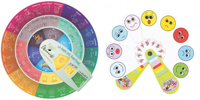 roue des émotions et éventail des émotions