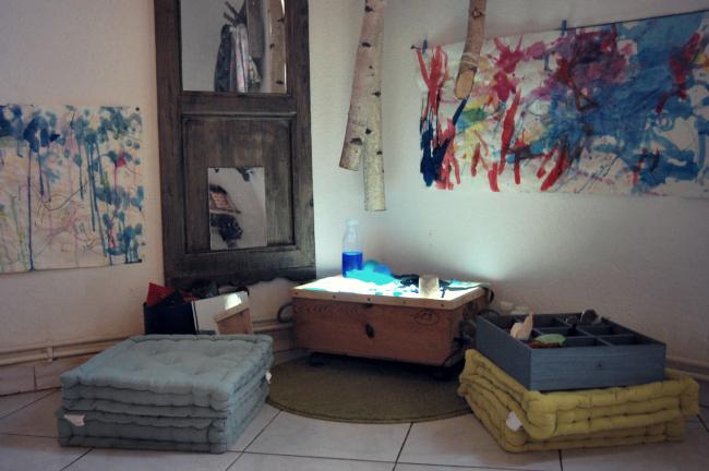 Reggio atelier peinture