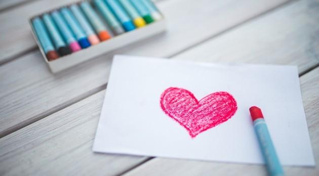 coeur fait au crayon
