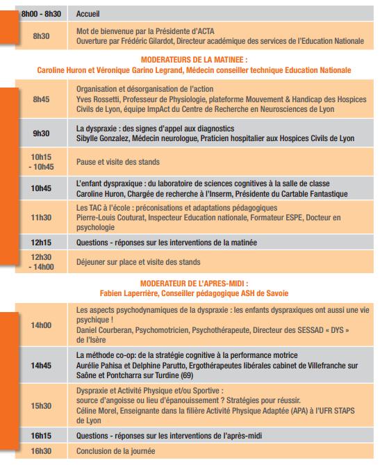 Programme ACTA73