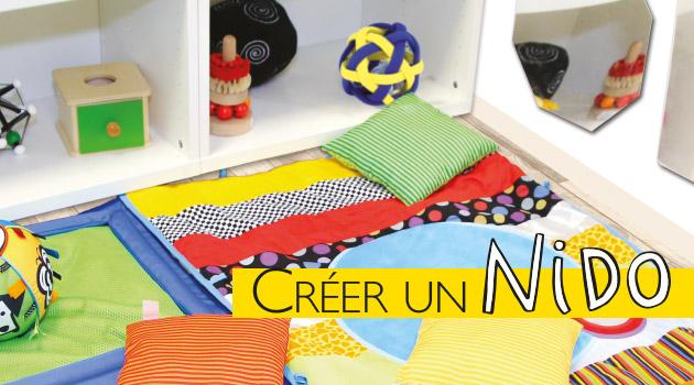 inspiration montessori cr er un nido blog hop 39 toys. Black Bedroom Furniture Sets. Home Design Ideas
