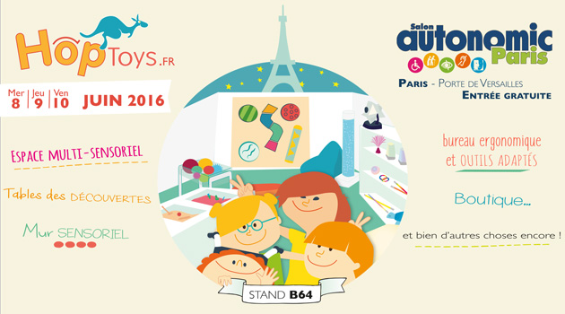 Hop 39 toys au salon autonomic 2016 blog hop 39 toys for Salon autonomic paris