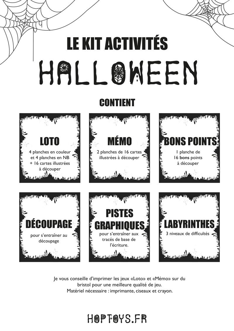 kit activités Halloween