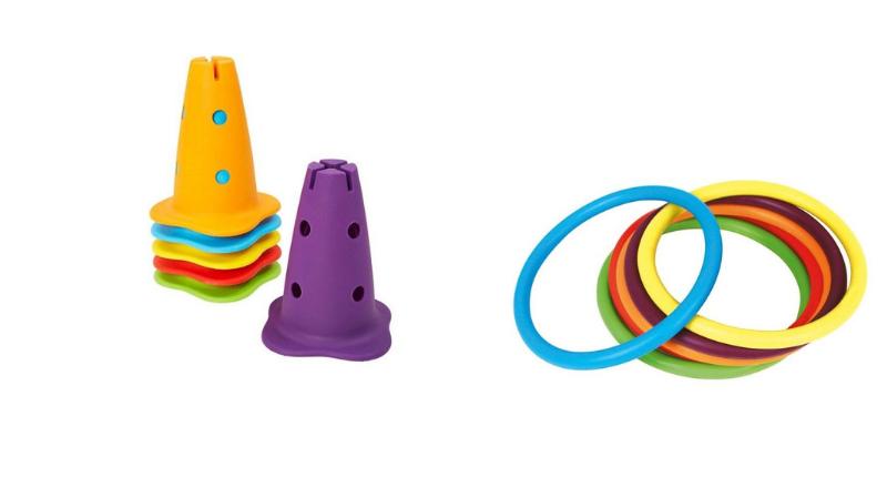 Des anneaux et des cônes pour travailler la coordination