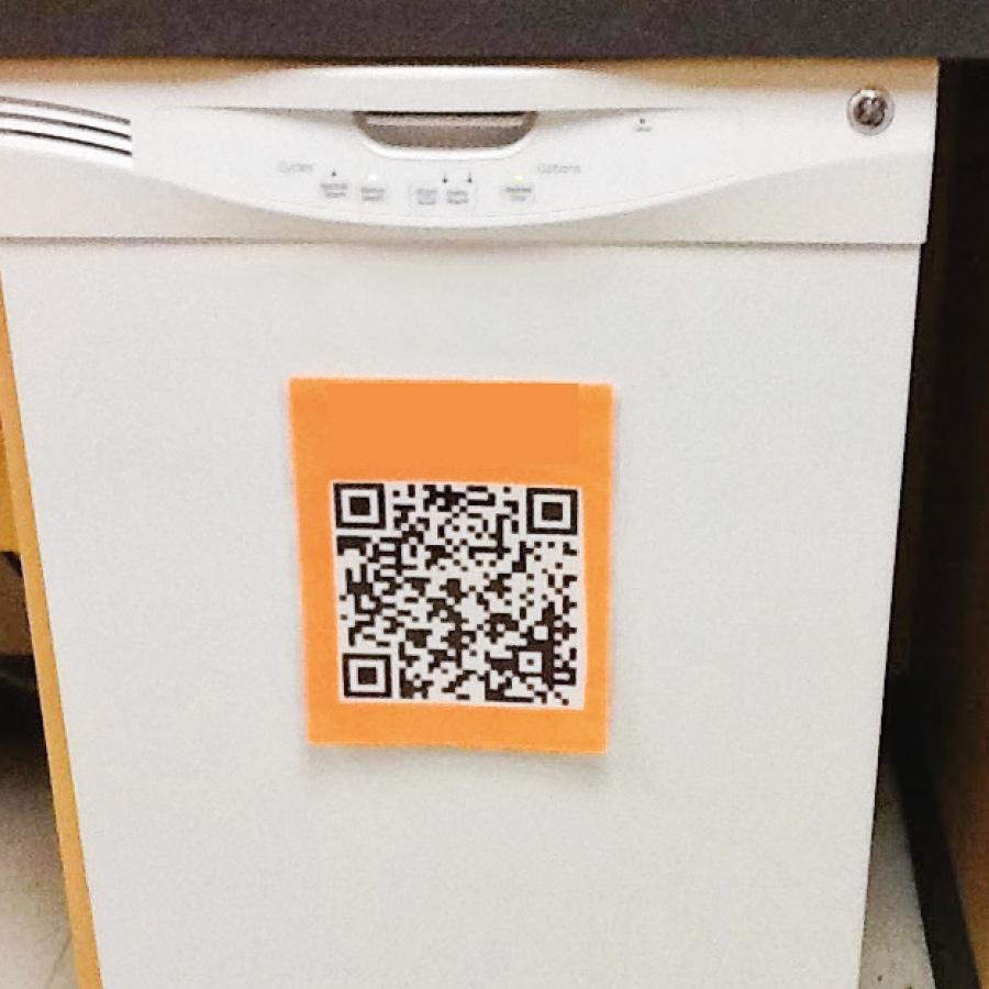 QR code sur lave vaisselle