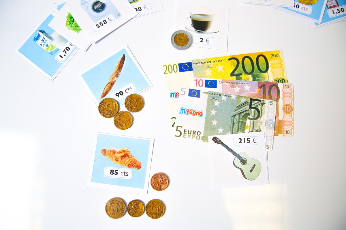 activité : manipuler la monnaie