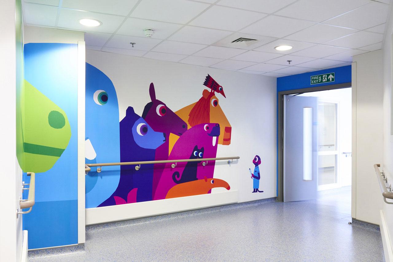 La déco d'un hôpital pour enfant
