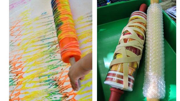peindre avec des elastiques